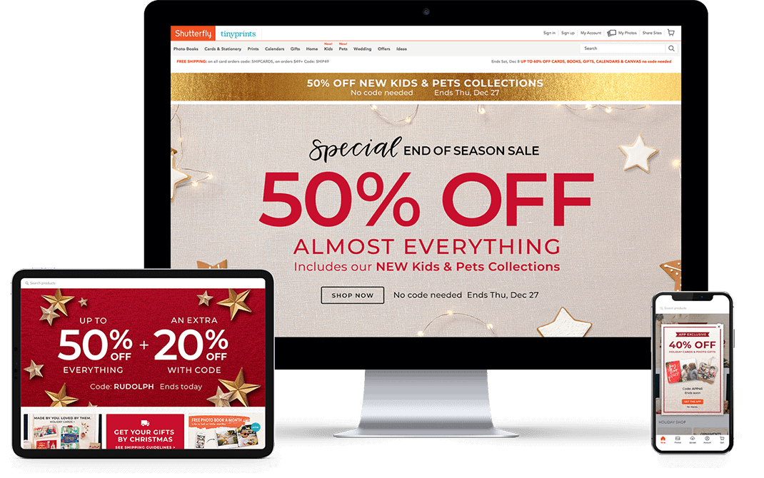 Shutterfly 50% Off Almost Everything - Brand Creative - Citizen Best