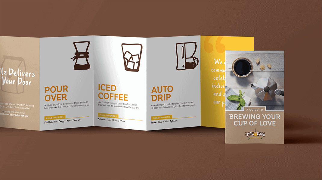 Brewing Your Cup of Love Brochure - Brand Advertising Agency - Citizen Best