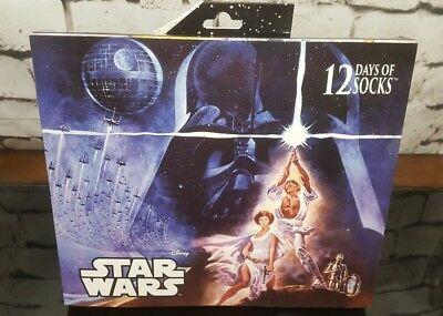 Men's Star Wars 12 Days of Socks Christmas Gift Set (Advent Calendar) 12 Pairs