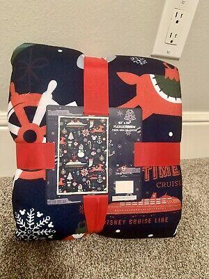 Disney Cruise Line Merrytime Christmas Blanket Throw DCL Fleece Dream Fantasy