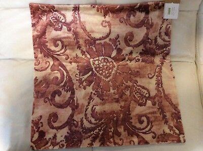 Pottery Barn Scarlett Velvet Pillow Cover Autumn Holiday NWT 22x22 Rust Orange