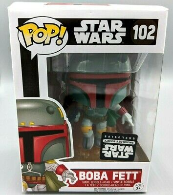 Funko POP! Star Wars #102 Boba Fett ACTION POSE Smugglers Bounty Exclusive Rare