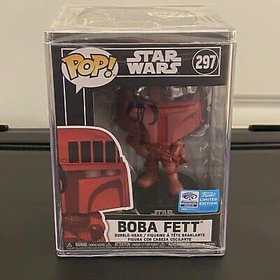 Funko POP! Star Wars BOBA FETT Red Futura LE #297 Target WonderCon 2020 SEALED!