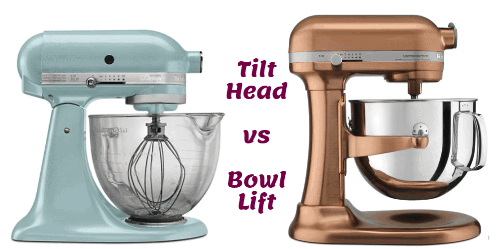 Compare KitchenAid Stand Mixer Tilt Head vs Bowl Lift