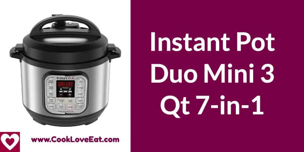 Best Electric Pressure Cooker 2020.Best Instant Pot Duo Mini 3 Qt 7 In 1 Review 2020