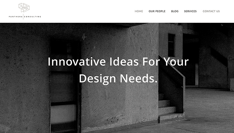 Panthera Consulting responsive design preview