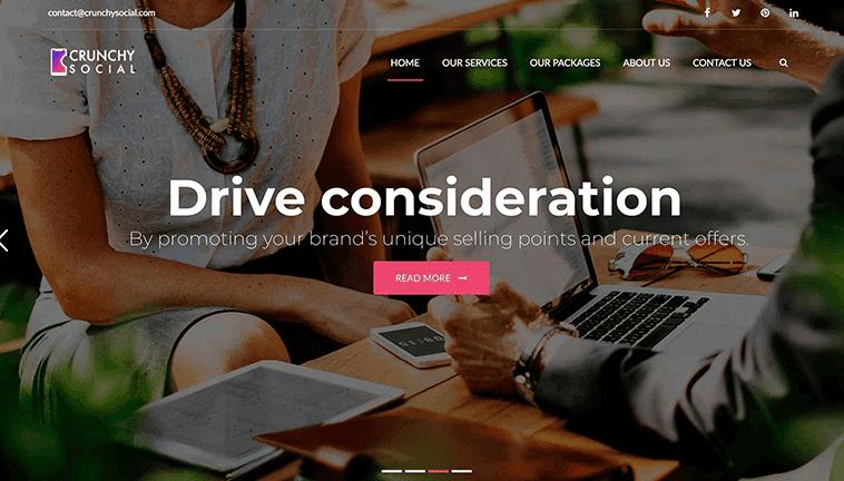 Crunchy Social responsive design preview
