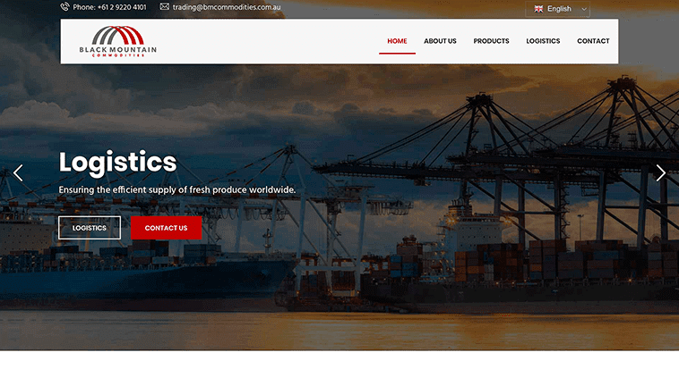 Black Mountain Commodities responsive design preview