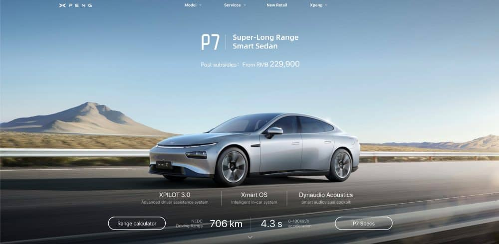 Chinese EV Maker Xpeng Caught Ripping off Tesla Website's Design
