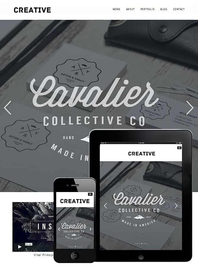 Free Creative Portfolio Theme