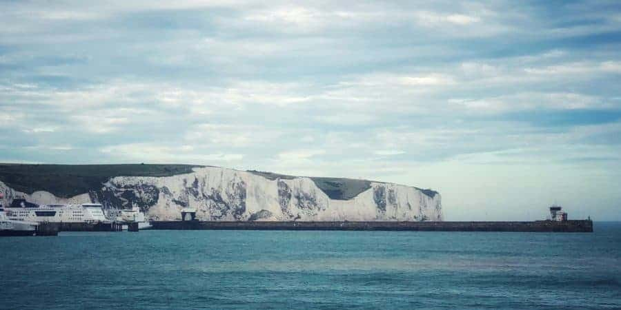 White Cliffs of Dover from the Disney Magic