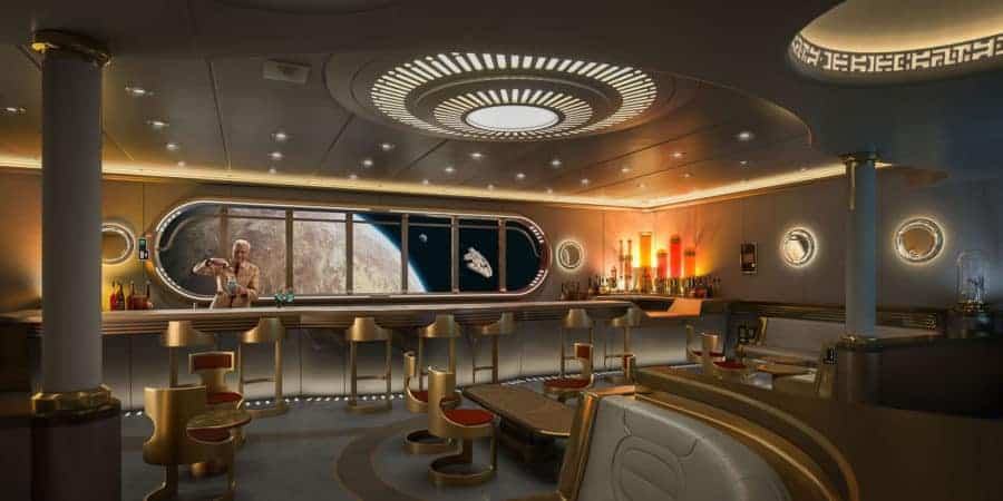 Disney Wish Star Wars Hyperspace Lounge