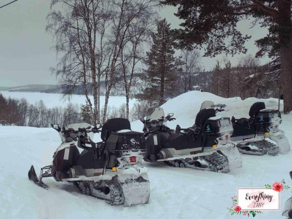 Snowmobile in Kirkeness Ice hotel