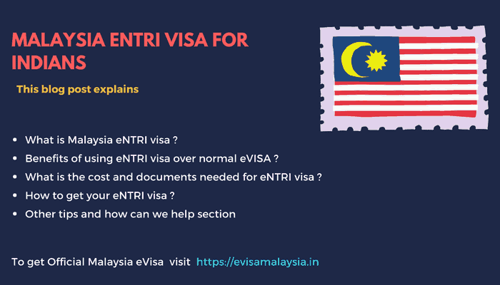 Malaysia eNTRI Visa for Indians – Updated for 2020