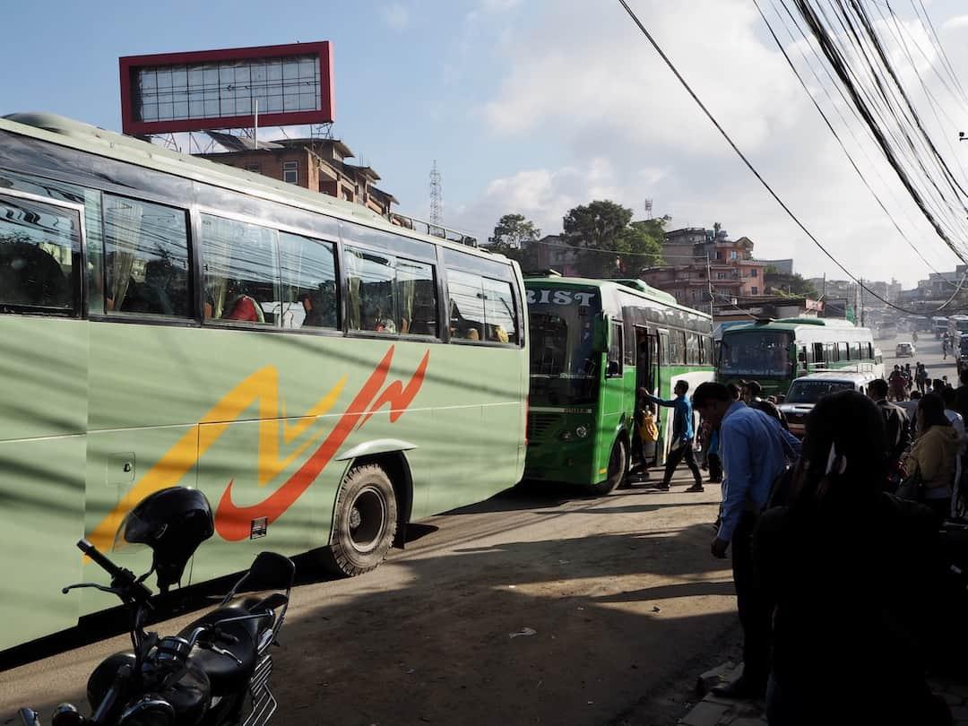 Kathmandu nach Lumbini: der Bus