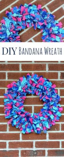 DIY Bandana wreath