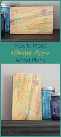 How to Make a Painted Arrow Wood Plank