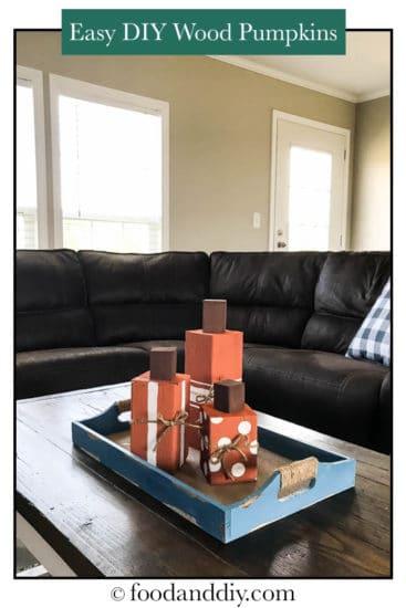 Easy and adorable DIY wood pumpkins