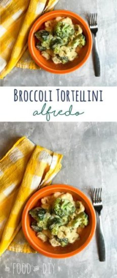 Broccoli Tortellini Alfredo. This dish is deliciousand easy to prepare. It's also a hit with the entire family, even my meat loving husband.
