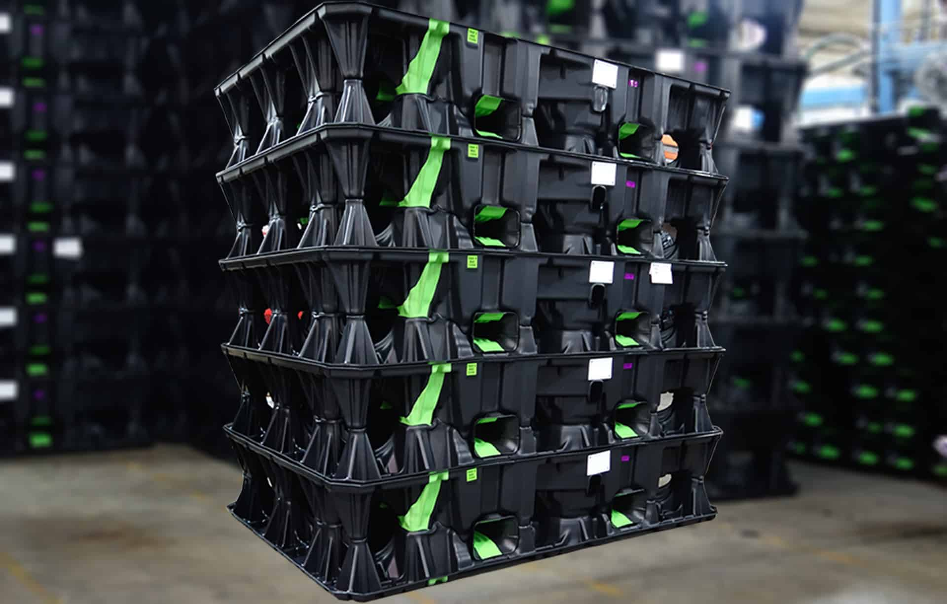Stacked Trays
