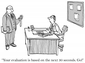get rid of the performance review: evaluating only recent actions