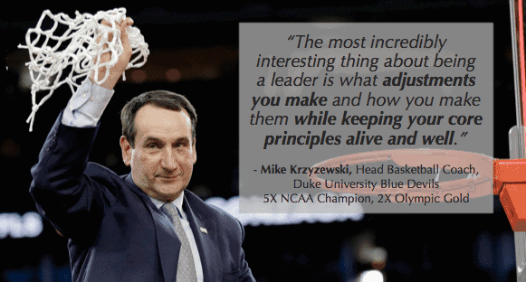 Leadership Paradox: Coach K on being consistent on principles and inconsistent on approaches