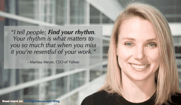be a better leader and learn rhythm like marissa meyer suggests