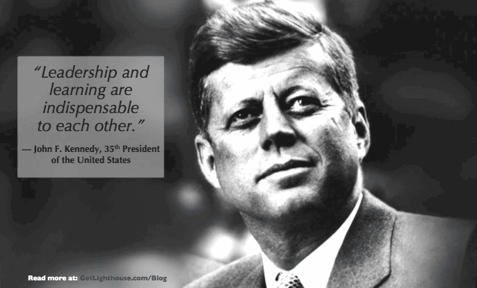 quotes for managers - learn llike JFK