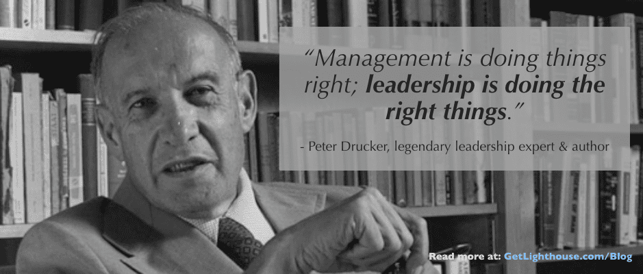 Peter Drucker on leadership skills.