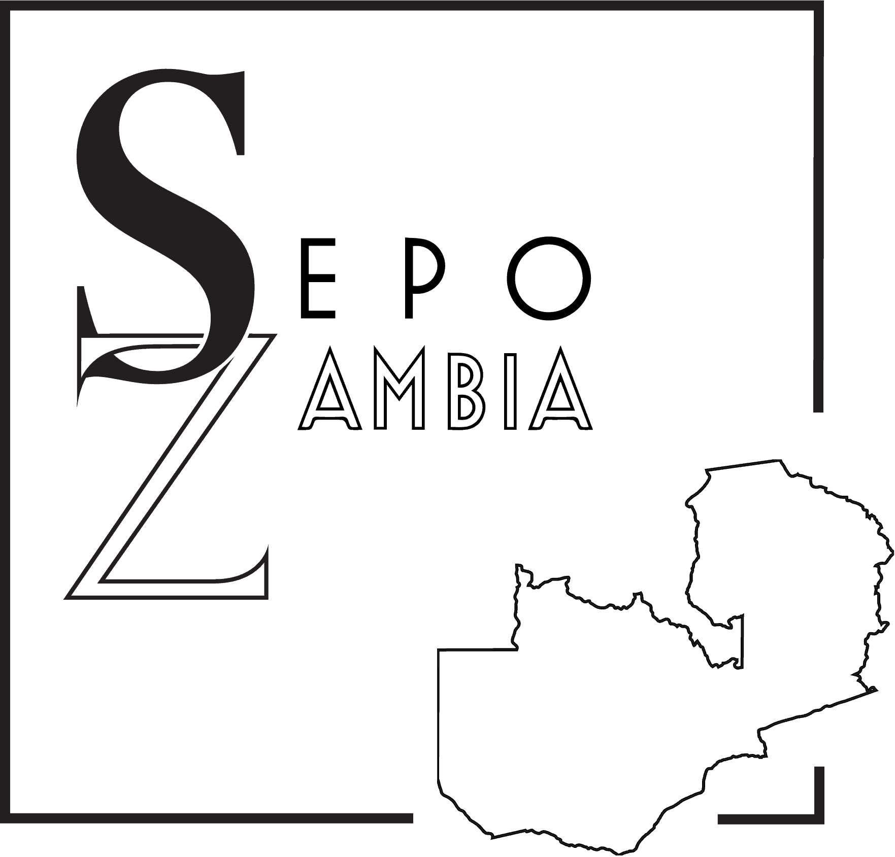 Logo for our client Sepo Zambia, non-profit organization dedicated to sustainability, education, and progress in western Zambia.
