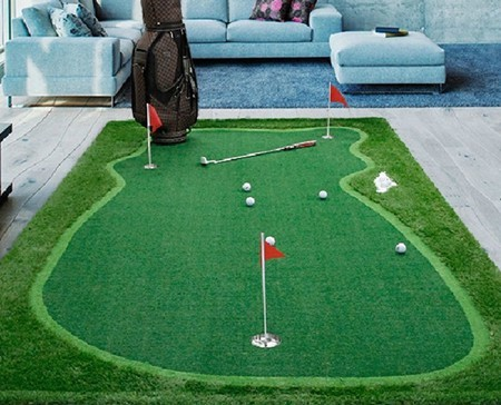 indoor golf putting green