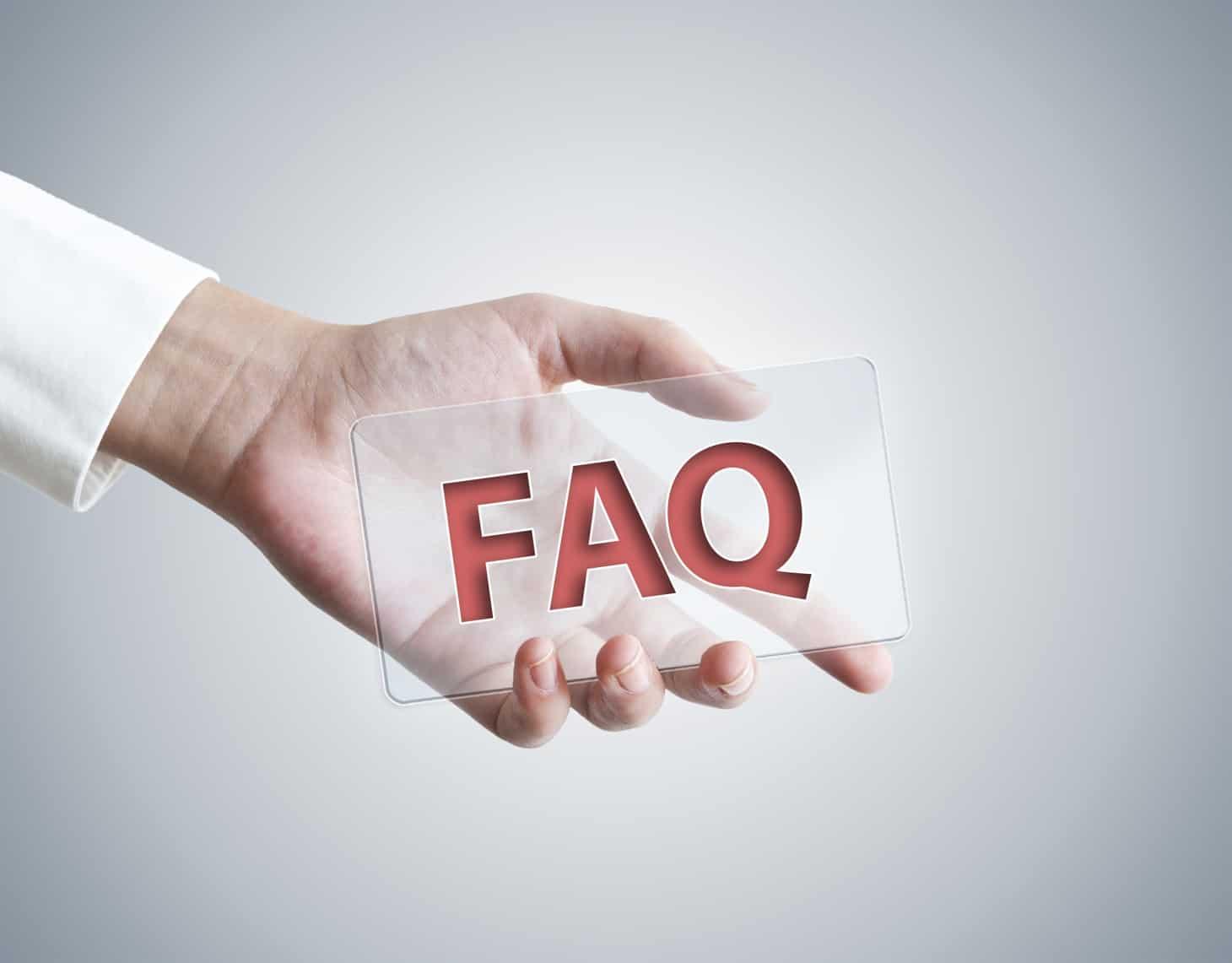 Schild FAQ Transfergesellschaft