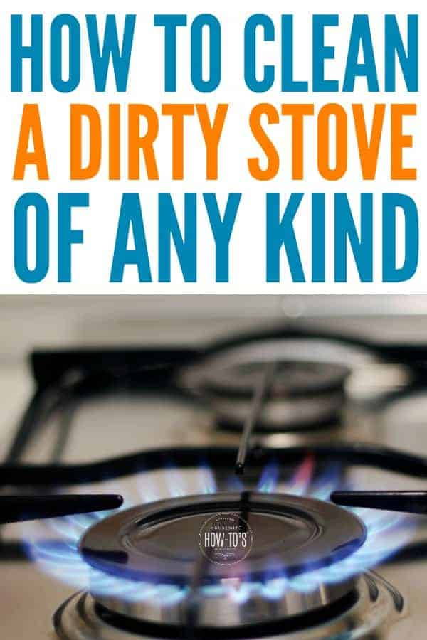 How to Clean a Dirty Stove - Get rid of stains and get burners working like new. #cleaning #kitchencleaning #housewifehowtos #housework #householdtip