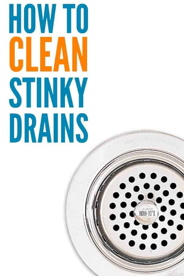 How to Clean Stinky Drains - Natural and non-toxic ways to get rid of that awful odor and keep your drains flowing well #cleaning #kitchenodors #drains #cloggeddrain #smells