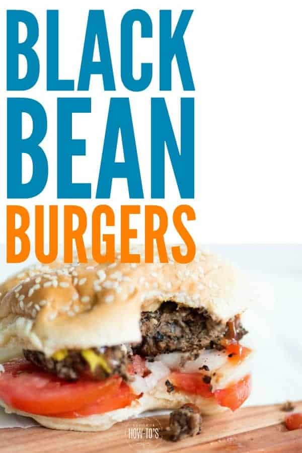 Black Bean Burgers Recipe | Start with canned or home-cooked black beans and make the easiest, most delicious meatless burgers you've ever had. #burgers #blackbeanburgers #vegetarianburgers #meatless #meatlessmondays #meatfree #meatfreemeals #vegetarian #beans #easydinnerrecipe #housewifehowtos #healthy #cleaneating