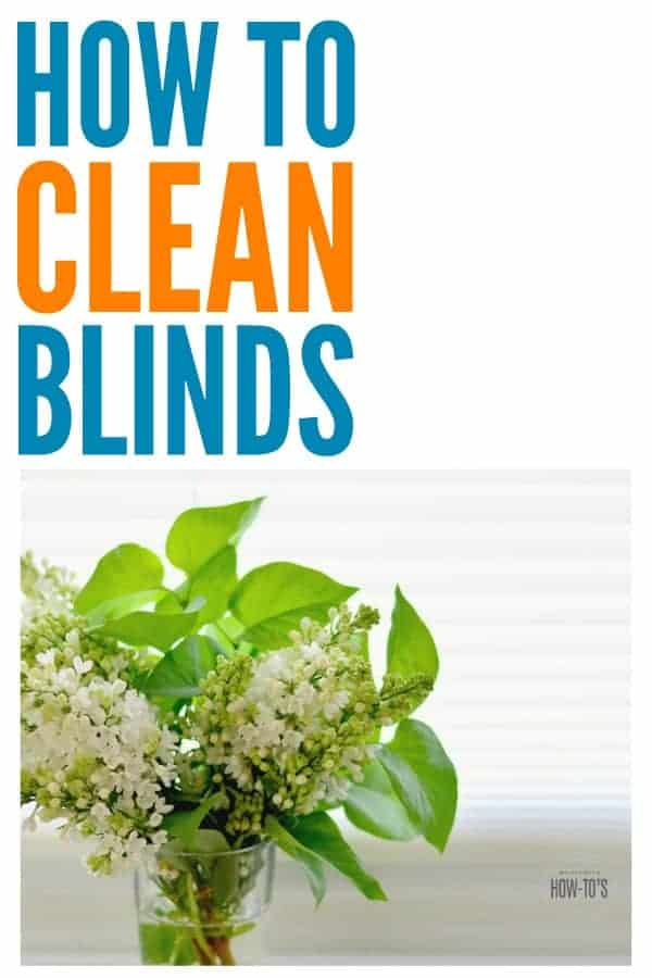 How to Clean Blinds - Easy way to get dust and grime off of vinyl, wood, metal, or fabric blinds. #cleaning #deepcleaning #windowtreatments #blinds #metalblinds #vinylblinds #fabricblinds #woodblinds #dust #allergies
