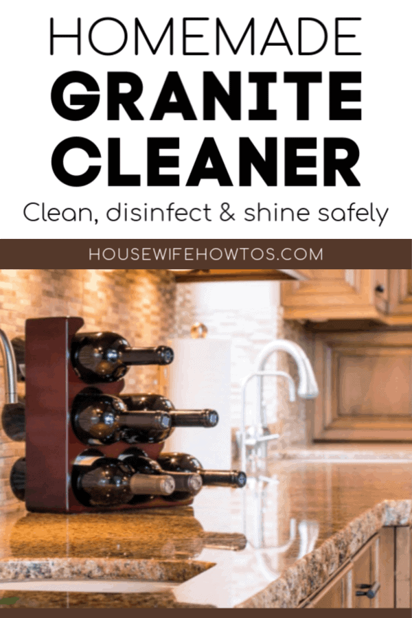 Homemade Granite Cleaner Recipe to disinfect and shine