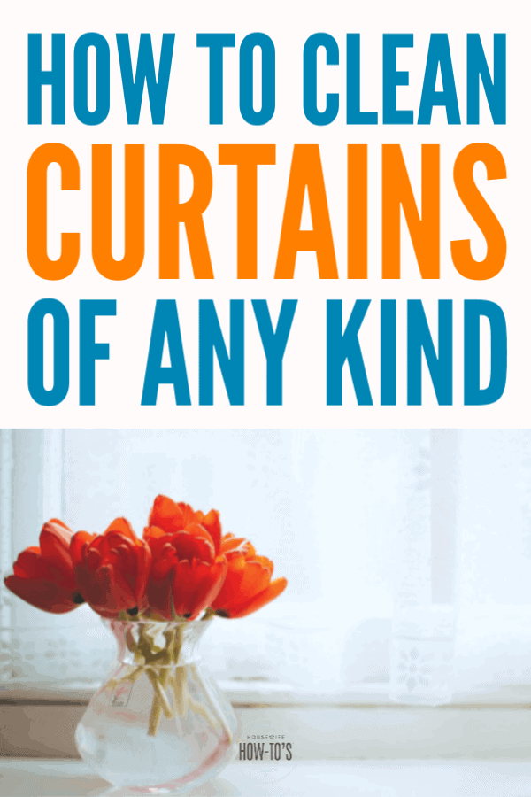 How to Clean Curtains - Remove dust, odors, and mold spores from any type of curtains or drapes with these tips. #cleaning #laundry #housewifehowtos