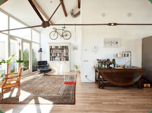 rustic hipster loft