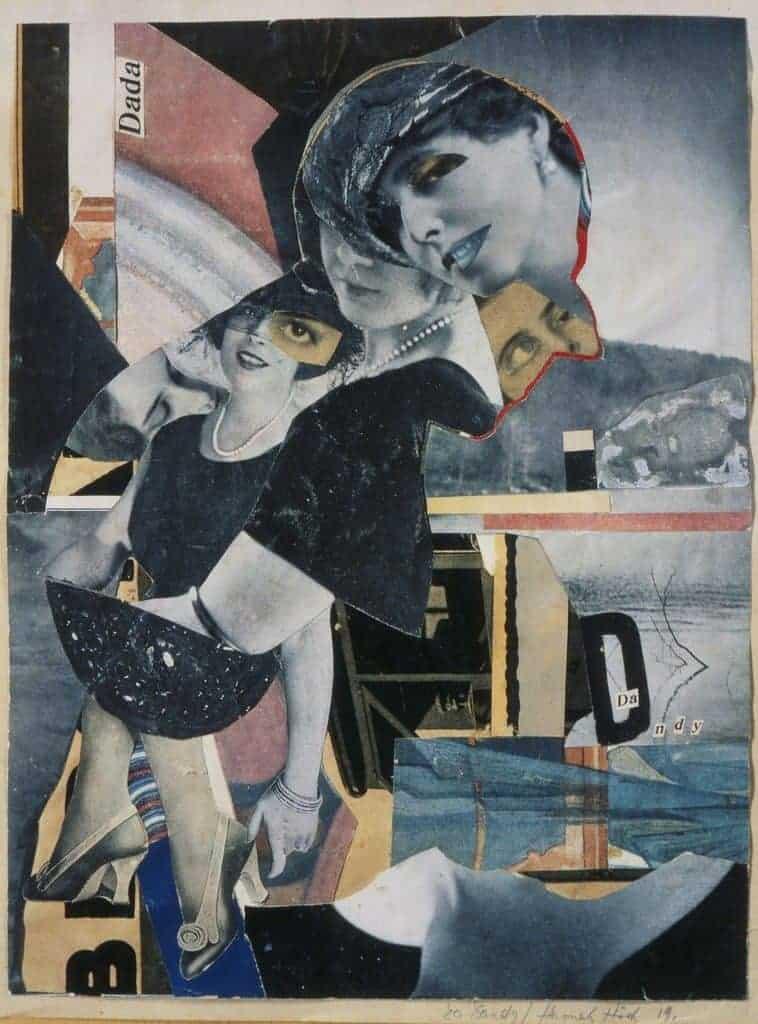 Dadaism: Hannah Höch, Da-Dandy, 1919.