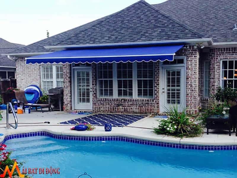 mái hiên cao cấp bể bơi
