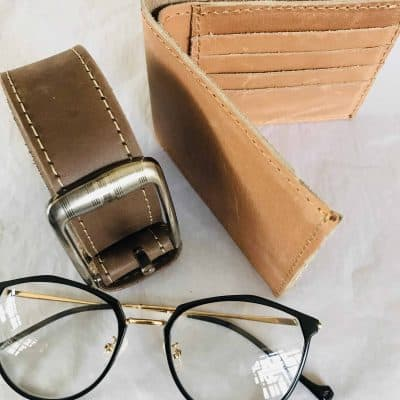 Leather Wallet and Belt