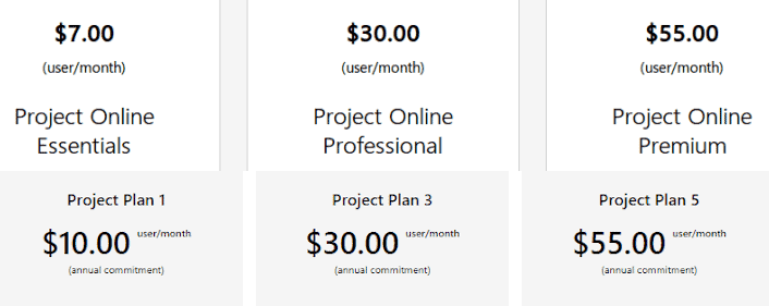 Project Essentials Pricing