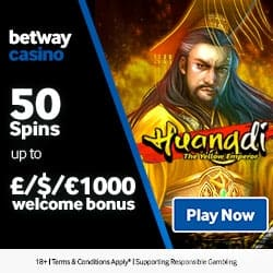 Betway Casino $1000 and 50 free spins