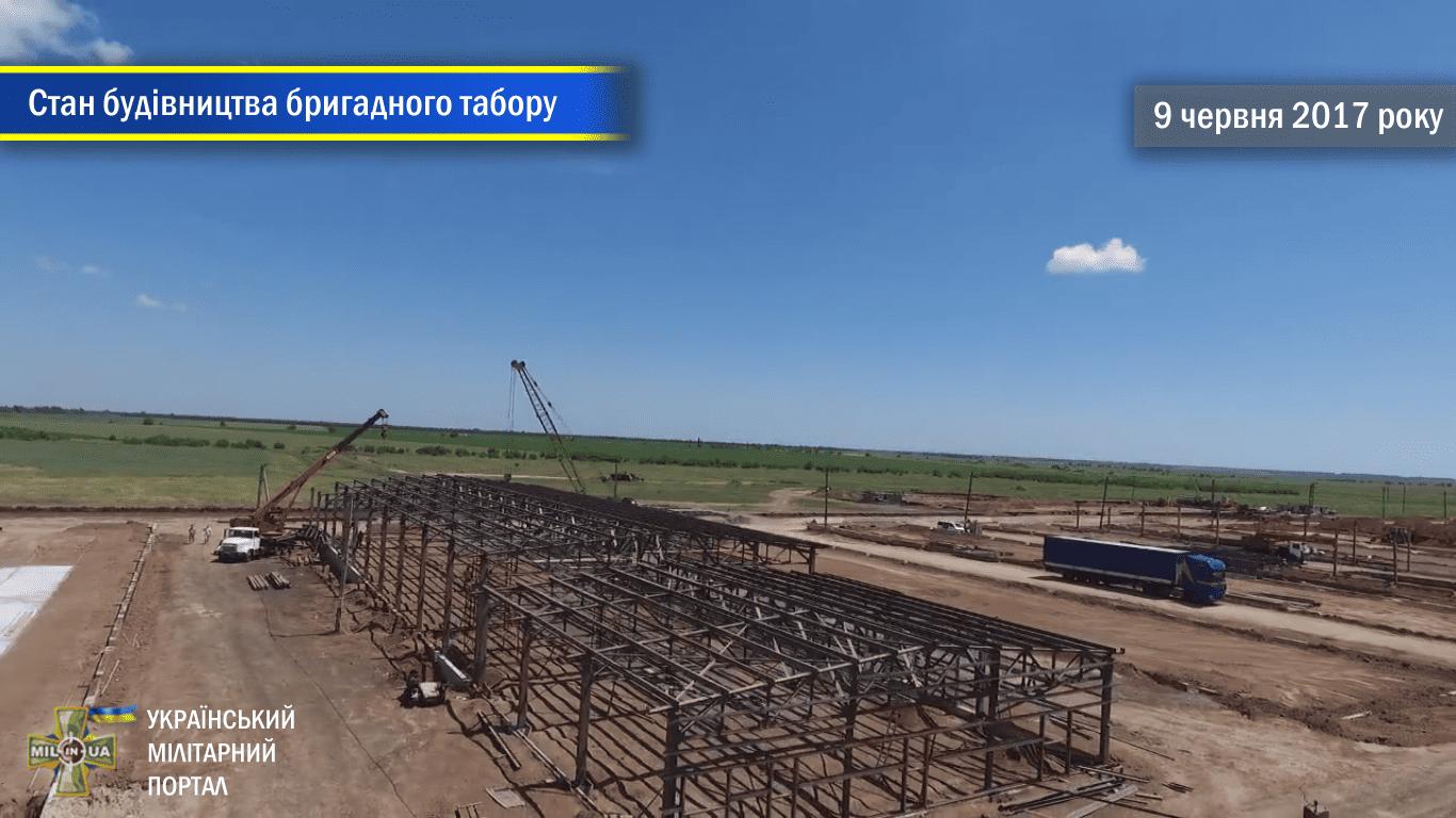 Стан будівництва польового бригадного табору на полігоні Широкий Лан
