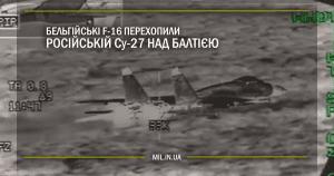 Бельгійські F-16 перехопили російські Су-27 над Балтією