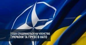 США сподіваються на членство України та Грузії в НАТО