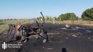 На Херсонщині вибухнув причеп з паливом
