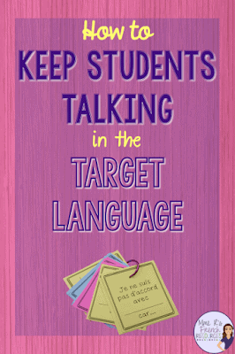 How to keep students talking in French