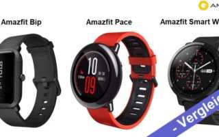Vergleich – Xiaomi Huami Amazfit Bip vs Amazfit Pace vs Amazfit Sport Watch 2 Stratos